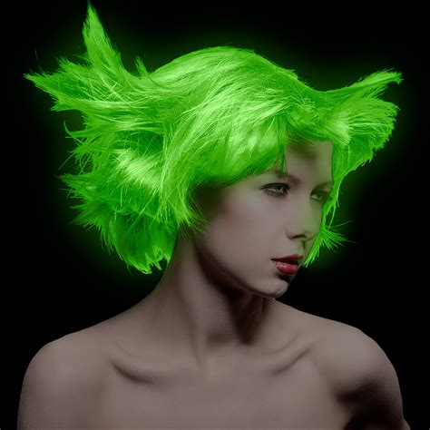 manic panic electric lizard lified hair colour neon