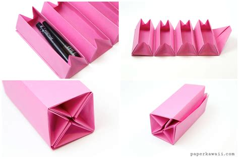 Up Origami Box - origami accordion box tutorial diy roll up box paper