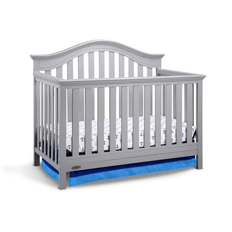 Graco Bryson 4 In 1 Convertible Crib In Pebble Gray Graco Convertible Crib Toddler Rail