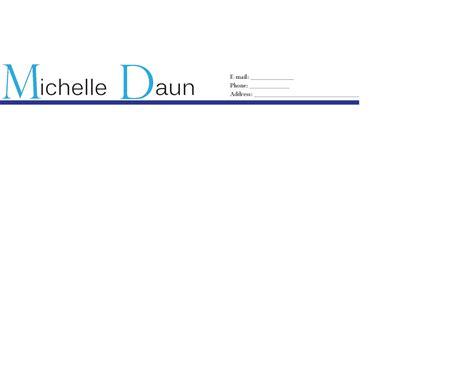 Resume Letterhead by Rbarpeifa Resume Letterhead Letterhead Template For