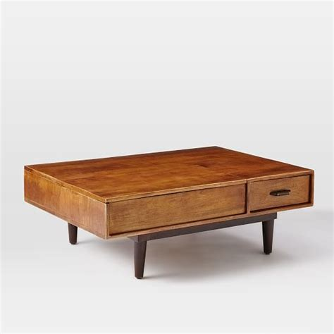 Coffee Table Mid Century Lars Mid Century Storage Coffee Table West Elm