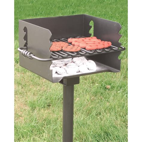 pilot rock steel park style backyard charcoal grill 16 1
