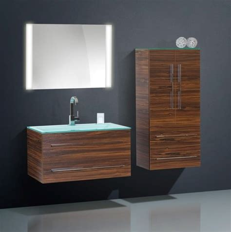 high quality modern bathroom cabinet with glass countertop