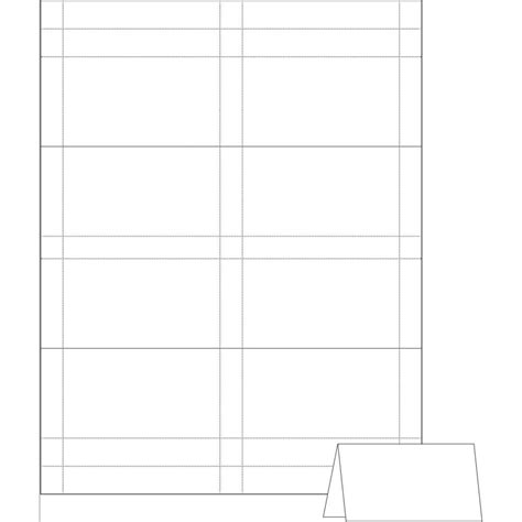 free place card template 4 per sheet card place card template 6 per sheet for tent place card