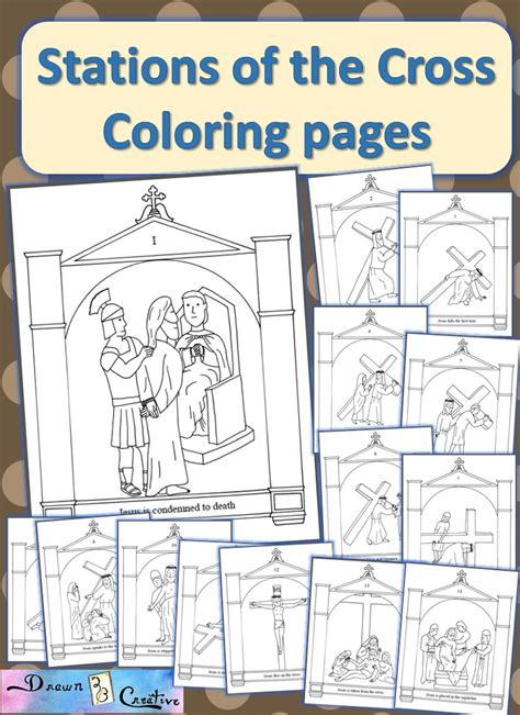 Stations Of The Cross Coloring Pages free printables drawn2bcreative