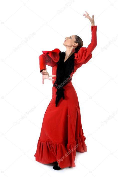 Dress Spanyol fiatal spanyol n蜻 jellegzetes n 233 pi piros ruha flamenco