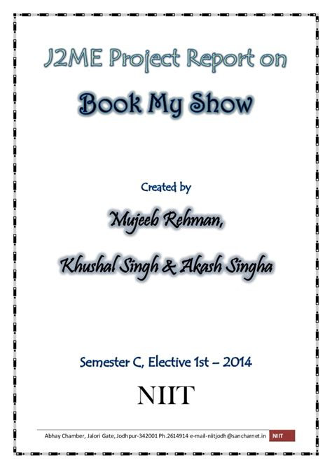 bookmyshow jodhpur j2me application on book my show