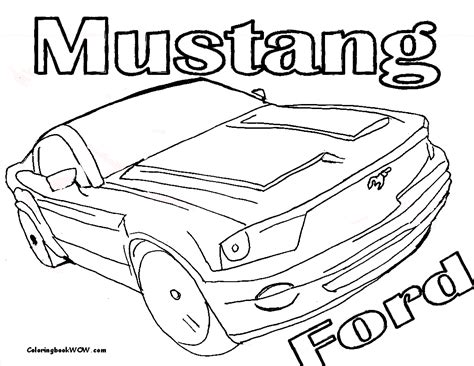 sheets for coloring mustang sports car coloring page at