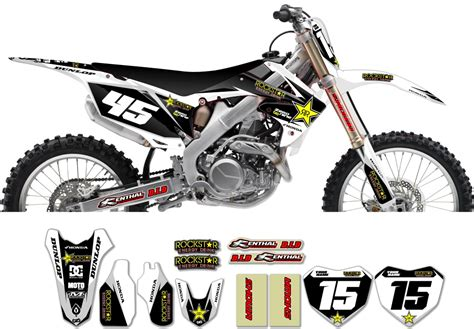 honda rockstar graphic kit factory white black 11
