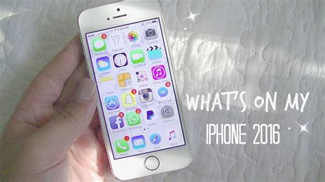 what s on my iphone 5s 2016