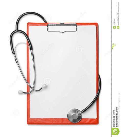 Illustrasi Frame clipboard and stethoscope stock photo image of accessory
