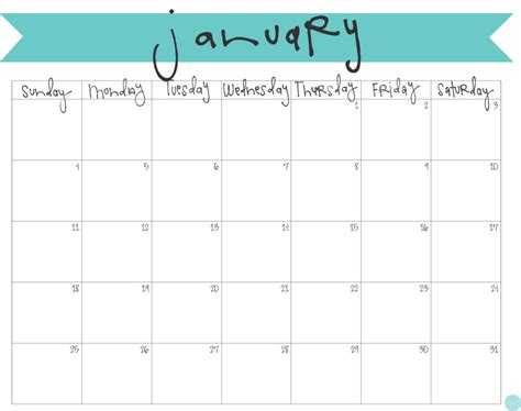 january 2015 day planner printable january 2015 calendar free printable live craft eat