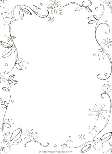 free coloring page borders 7 images of border coloring pages printable printablee