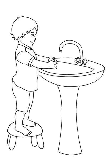printable coloring pages washing hands hand washing coloring pages bestofcoloring com