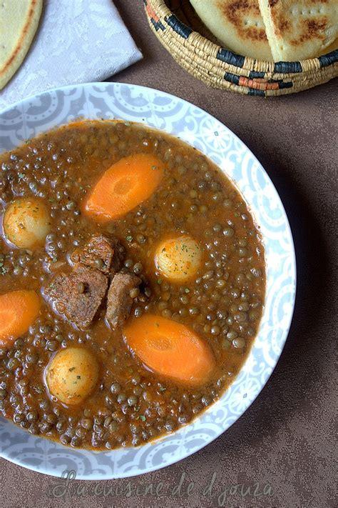 des recettes de cuisine algerien soupe de lentilles vertes alg 233 rienne en sauce