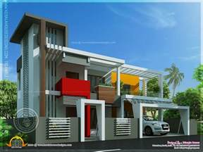 contemporary house plan contemporary house in unique design kerala home design