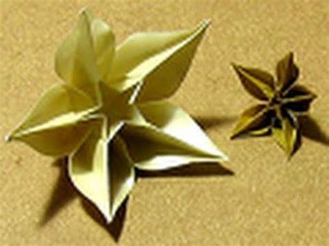 Carambola Flower Origami - origami tutorial carambola sprung