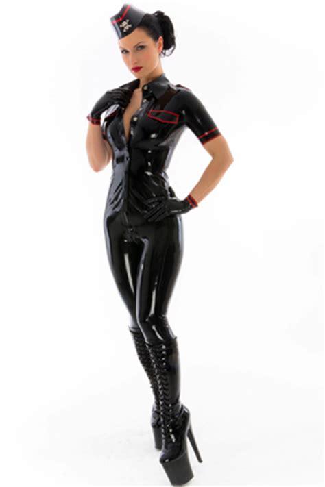 breathless womens latex rubber uniforms