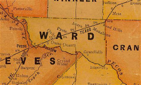 ward county texas map wickett texas