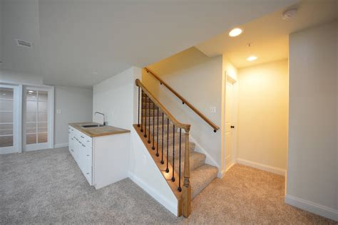 replace banister with half wall basement stairs with balusters sha excelsior org