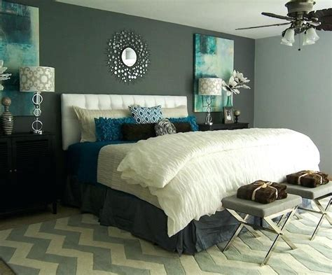 grey bedroom with teal accents teal white and grey bedroom bedroom design