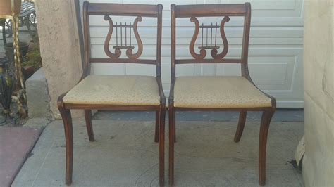 Duncan Phyfe Dining Chairs Duncan Phyfe Lyre Back Dining Chairs Set Of 2 Haute Juice