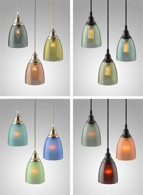 Recycled Lighting Fixtures Transforming Recycled Bottle Glass Into Exquisite Ls And Lighting Fixtures 500eco