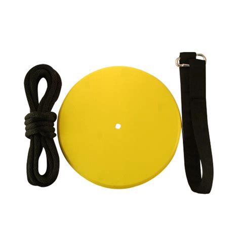 yellow discs yellow wood disc swing kit treeswingstore