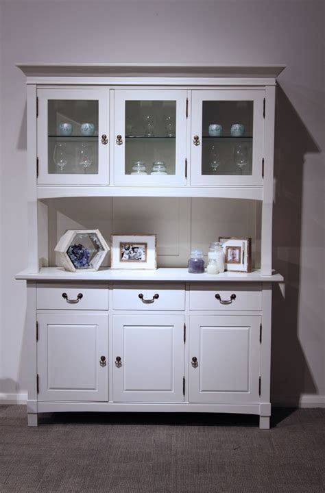 symphony white buffet and hutch