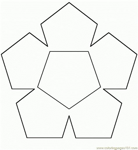 printable shapes hexagon free coloring pages of hexagon
