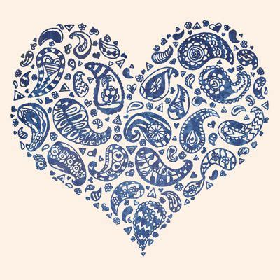 paisley heart tattoo designs best 25 paisley tattoos ideas on