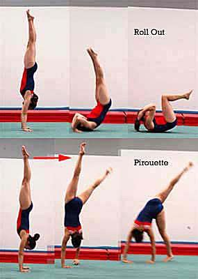 layout gymnastics move learn how to do a handstand