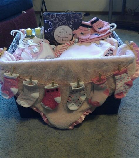 Baby Shower Handmade Gifts - baby shower gift basket by georganne passwater