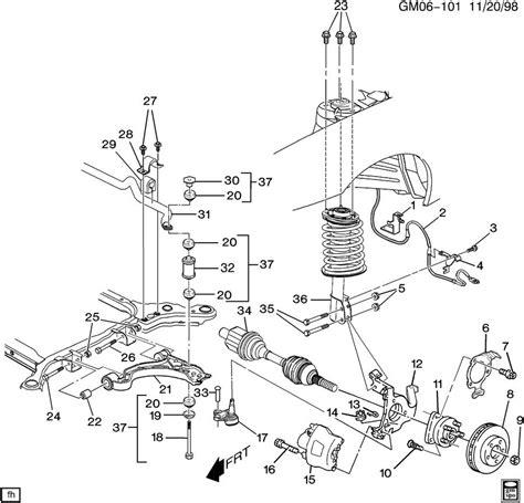 2001 pontiac bonneville rear suspension parts diagram pontiac auto wiring diagram