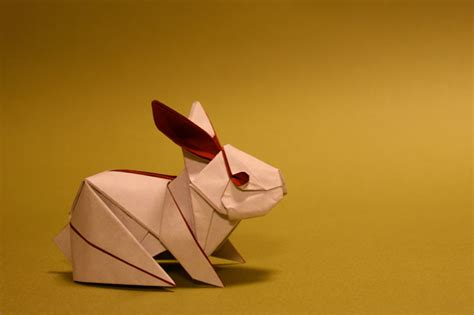 Exles Of Origami With Steps - origami rabbit by h on deviantart