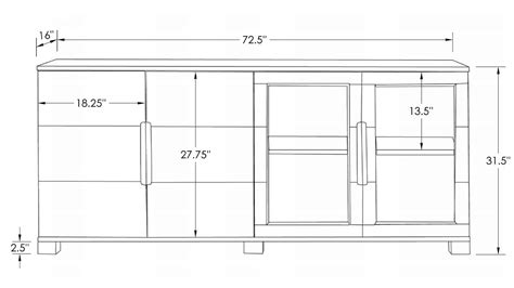Cabinet Hays by Modern Cabinet Oak With Glass Doors Zuri