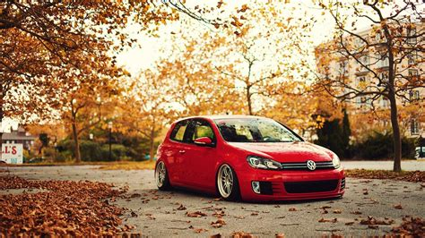 volkswagen background volkswagen stance fall golf gti golf vi