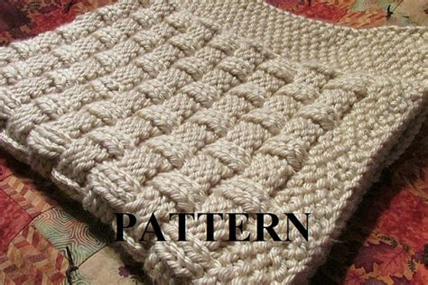 knitted basket weave afghan pattern knitting pattern blanket knitting pattern basket weave