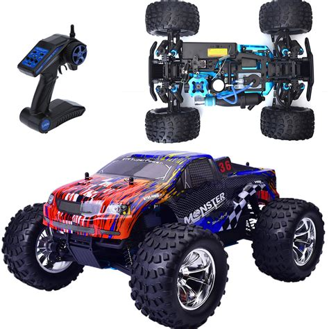 hsp nitro monster hsp rc truck 1 10 scale models nitro gas power off road