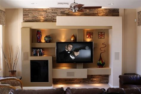 media wall ideas media wall 5 contemporary family room phoenix by