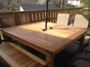 Diy Wood Patio Table White Simple Square Cedar Outdoor Dining Table Diy Projects