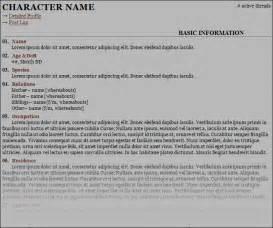 rp bio template sheet gallery