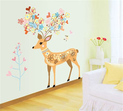 giant wall stickers for kids bedroom new colorful deer large wall stickers cartoon for kids