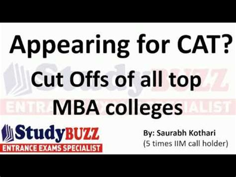 About Cat For Mba by Appearing For Cat Cut Offs Of All Mba Colleges