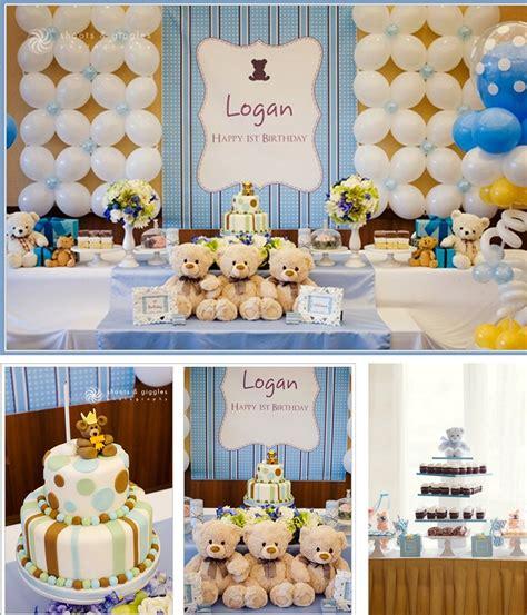 Black Bear Decorations Home teddy bear theme baptism party for boys