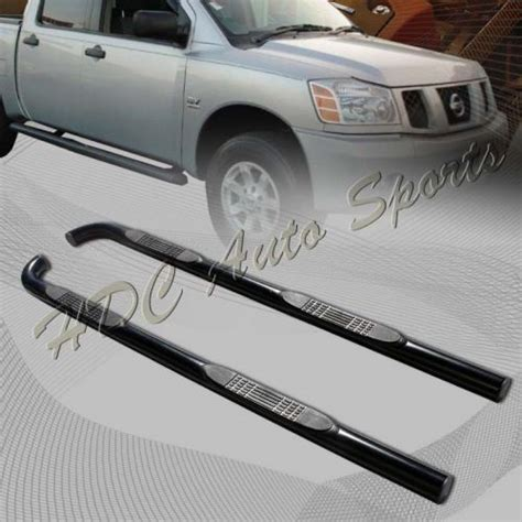 nissan titan step rails sell for 04 07 nissan titan king cab black stainless steel