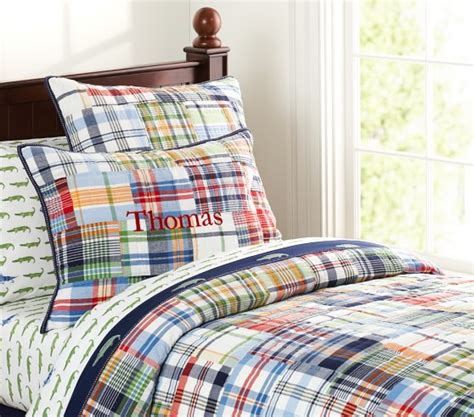 pottery barn kids comforter madras quilted bedding pottery barn kids