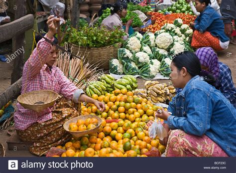 u vegetables myanmar burma nyaung u a busy market with fresh