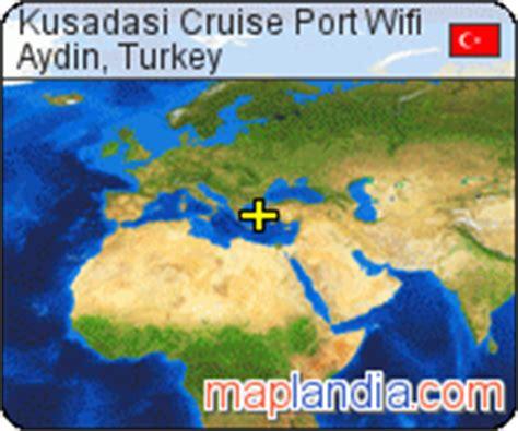 kusadasi port map kusadasi cruise port wifi aydin satellite map