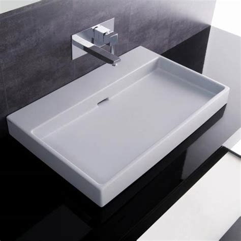 bathroom wall sinks urban 70 white wall mount or countertop bathroom sink